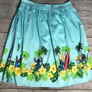 Disney Lilo & Stitch Border Print A- Line Skirt